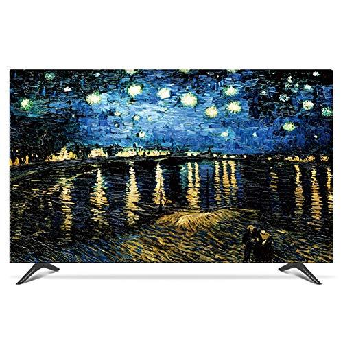 LIUDINGDING-zheyangwang Cubierta de TV Cubierta De Polvo De TV LCD Cubierta De La Pantalla Uso En El Hogar Pintura Al Óleo Impresionismo (Color : Black, Size : 32inch)