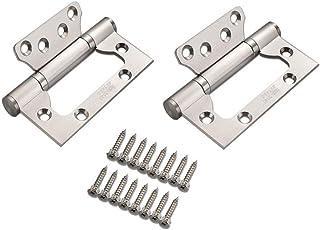 Bisagras 100MM*35MM GKONGU Par de Casa Bisagra para Puerta de Acero Inoxidable Bisagras de Repuesto Cojinete de Bolas Mute