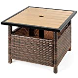 Best Choice Products Wicker Rattan Patio Side Table Outdoor Furniture for...