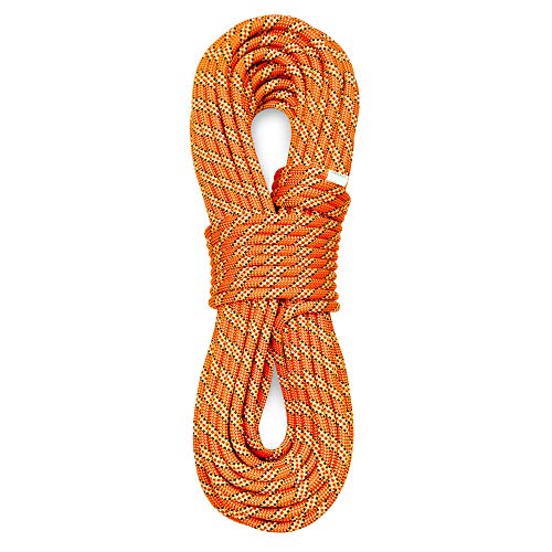 PHRIXUS 98mm Dynamic Climbing Rope 40M 70M Safety Nylon Kernmantle Rope for Rock Climbing Rappelling Mountaineering Ice Climbing Rescue Arborist and Tree Climbing