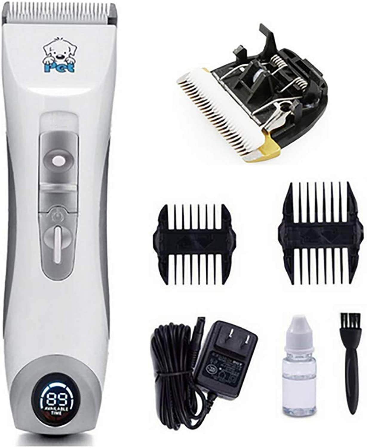 Pet Grooming Clipper, Rechargeable Cordless Cat and Dog Clippers, Low Noise Electric Pet Trimmer, Pet Clipper for Trimming The Hair Around Face, Eyes, Ears, Paw, Rump