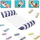 Hamaca inflable, colchón de aire para piscina, hamaca de agua, cama hinchable para piscina, colchón de aire para piscina con red