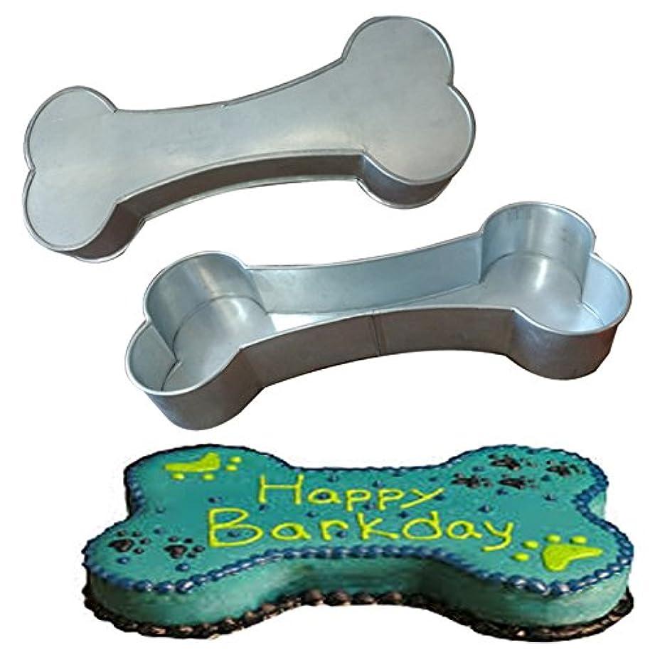 Dog Bone Shape Cake Tin Pan for Birthday Novelty Fun Cake Mould (13