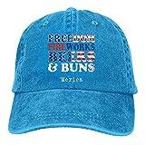 Gymini Freedom Fireworks Beers Buns Merica Bandera Americana 4 de julio Funny Party Ajustable Baseball Caps Denim Sombreros Retro Cap