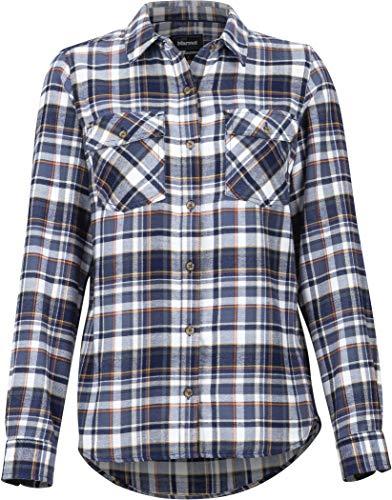 Marmot Damen Wm's Bridget Midwt Flannel LS Hemd, Slate Grey, XS