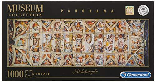 Clementoni- Vatican Puzzle-Volta della Cappella Sistina Panorama-1000 Pezzi, Multicolore, 39498