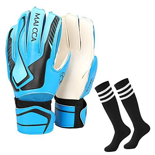 guanti portiere adidas Villavivi 2 Articoli per Portiere: Guanti da Portiere Calcio con Protezione per Dita + Calze da Calcio per Bambini