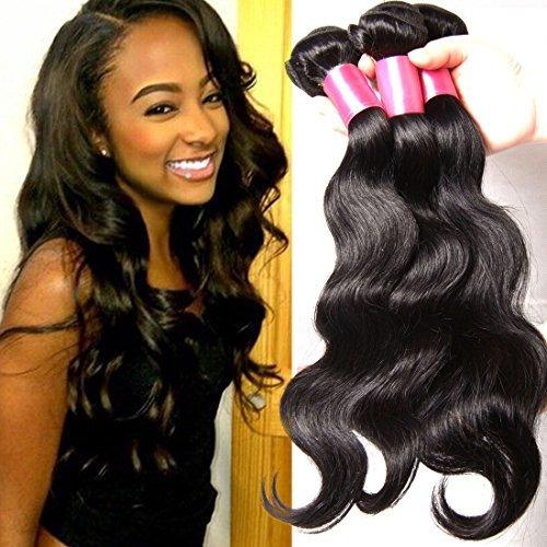Ombre Hair Body Wave Extensions capillaires 3 lots tissage 100% cheveux humains naturels non traités brésiliens vierges couleur # 1B/# 4/# 27 (100 +/-5g)/PC (16 18 50,8 cm # 1B/# 4/# 27)