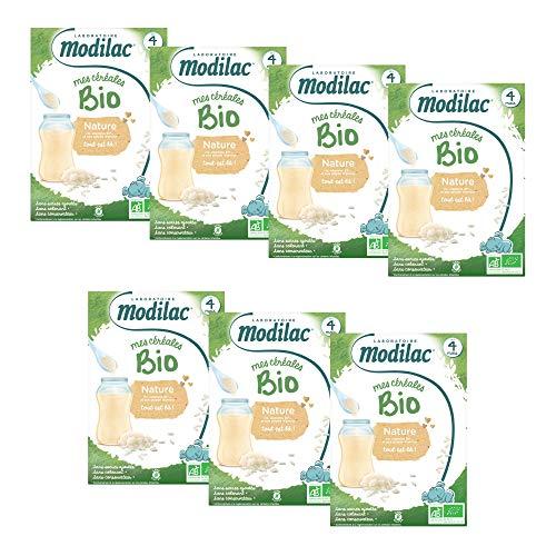 Laboratoire Modilac - Céréales Bio Nature Sans Sucres Ajoutés*** - Dès 4 mois - 250g - Lot de 7