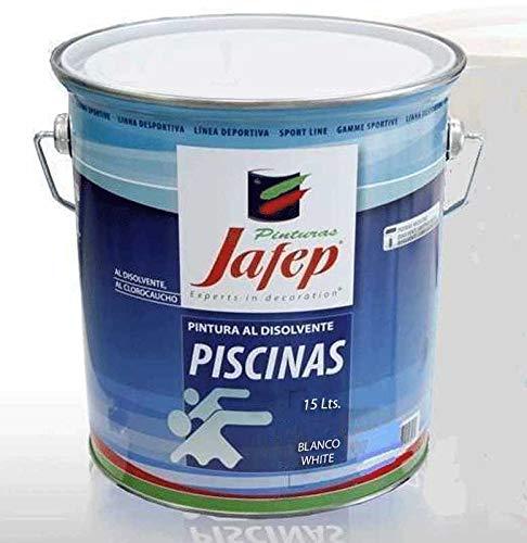 Verniciatura di piscine in gomma clorurata - Economica (15 litri, Bianco)