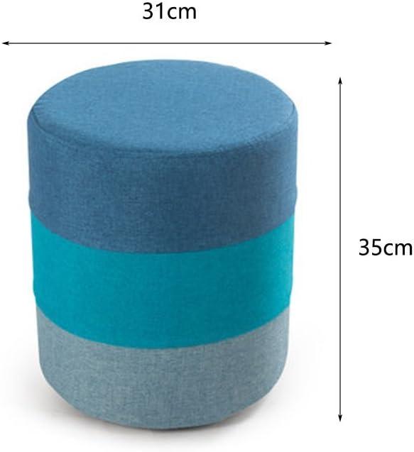 WLL- Creative canapé banc chaussures tabouret en tissu chaussures de tabouret (31x35cm) (Color : Blue) Blue