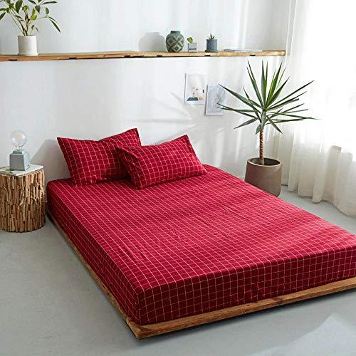 DSman Protector de colchón/Cubre colchón Acolchado, antiácaros, Sábana de algodón de una Sola Pieza Color sólido-21_120 * 200cm