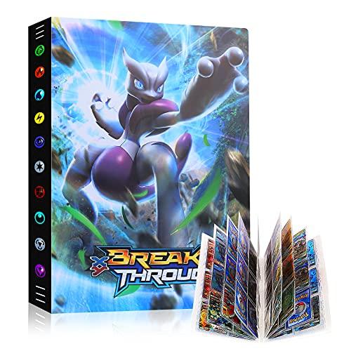 Raccoglitore Carte Pokémon, Porta Carte Pokemon Grande, L'album ha 24 Pagine e può Contenere 432 Carte Album per Carte Pokemon GX Ex, Album di Carte Collezionabili Pokémon Cartella (Mewtwo)