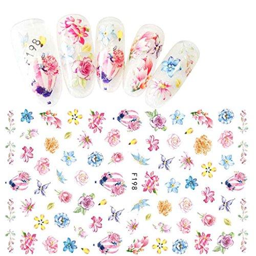 Babysbreath Nail Art Aufkleber Full Cover Bild Aufkleber Blume Transfer Foam Nagel Maniküre Werkzeug F198#