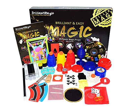 Jufang Magic Set Magic Kit for Kids Magic Games for Children Including 25 Tricks Easy to Play Magic Best Gift for Boys Girls and QR Video Instruction