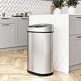 SONGMICS Sensor Mülleimer 50L Abfalleimer Automatik Abfallbehälter Müllbehälter für Küche Edelstahl LTB92NG - 3