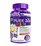 ZzzQuil Pure Zzzs Kidz Melatonin Sleep Aid Gummies, 72 ct, Lavender and Chamomile for Kids and Children