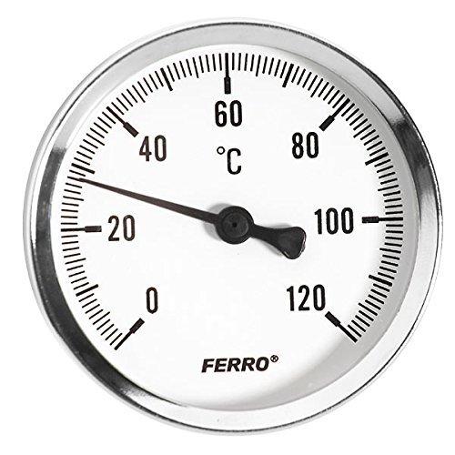 40mm 0-120c Térmico Agua Medidor de temperatura del aceite 1/4″ Entrada posterior Termómetro