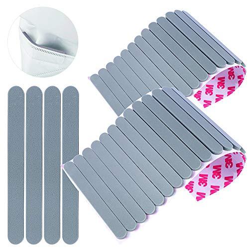 50Pcs Nose Bridge Strips Pad Self-Adhesive Anti-Fog Cushion Protection Stripe DIY Crafting Black Latex