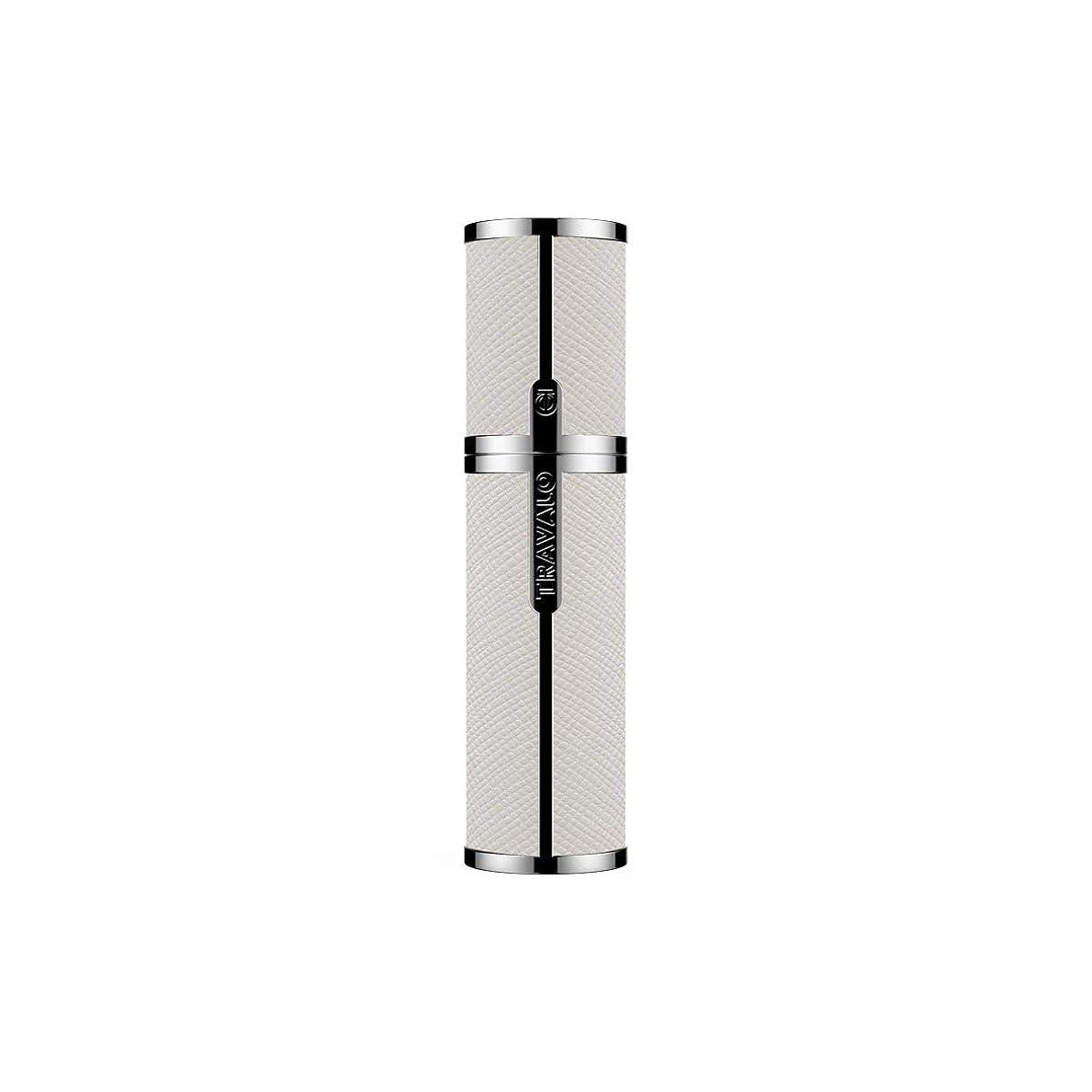 困惑した汚染コマースTRAVALO (トラヴァ―ロ) ミラノ アトマイザー ホワイト 香水 旅行 携帯 詰め替え ボトル 簡単 香水スプレー