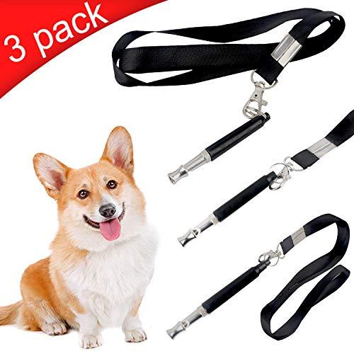 Vanplay Silbato Adiestramiento para Perros con Cordón Deja de Ladrar Control de Mascotas Recordar Herramienta,Juego de 3 Piezas