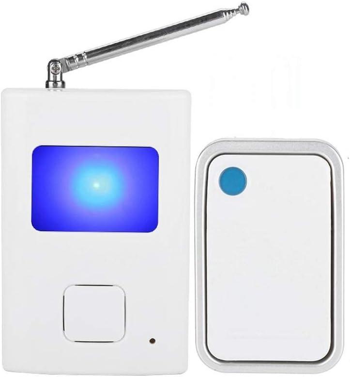 DTTDV Timbre inalámbrico WiFi Botón electrónico Impermeable Remoto Timbre de Puerta Suena Perro ladrando Timbre botón pulsador transmisor de Campana