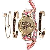 Beauty7 Relojes Tejido y Pulsera con Raya de...