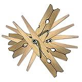 Pinzas de madera para ropa, de larga duración, de Simply Direct, madera, 48 Pack