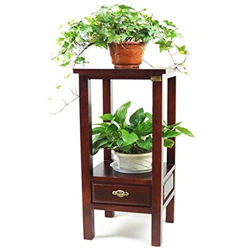 Support de fleur en bois massif Étagère de balcon à plusieurs étages étagère minimaliste moderne américaine Couleur bois 32 * 32 * 77cm (Size : B)