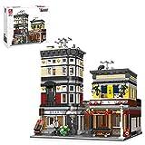 HYZH Juego de construcción para casa, construcción modular 2662 + bloques de sujeción, estilo japonés, sushi, rstraurant, maqueta, arquitectura, modelo compatible con casa Lego