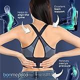 Bonmedico® Orthopädisches Sitzkissen mit innovativer Gel-Beschichtung, wirkt schmerzreduzierend, sorgt für gerade Körperhaltung und Steißbein-Entlastung, geeignet für Auto, Büro- & Rollstuhl sowie Reisen, in Schwarz oder Blau (Schwarz) - 4