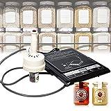 InLoveArts 20-100 mm Máquina Selladora de Tapas de Botellas Portátil Sellador Térmico de Inducción Mano Sellado Maquina para Junta de Sellado de Tapa Botella Automático Sellador de Tapa de Botella