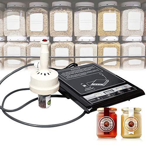 HUKOER Sellador por Inducción Portátil 20-100 mm Máquina Automática de Sellado de Tapas Botellas con Función de Conteo para Papel de Aluminio, Tapado de Botellas Redondas