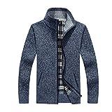 HOSD New 4XL 5XL MenseFat Wool Zipper Casual Sweater Men Knitted Coat...