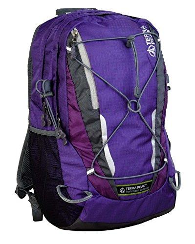 Terra Peak Rucksack Edge, Purple/Dark Purple, 40 x 30 x 10 cm, 22 Liter