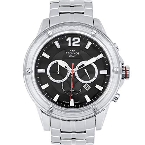 Relógio Technos Masculino Ref: Js26an/1p Big Case Cronógrafo Prateado