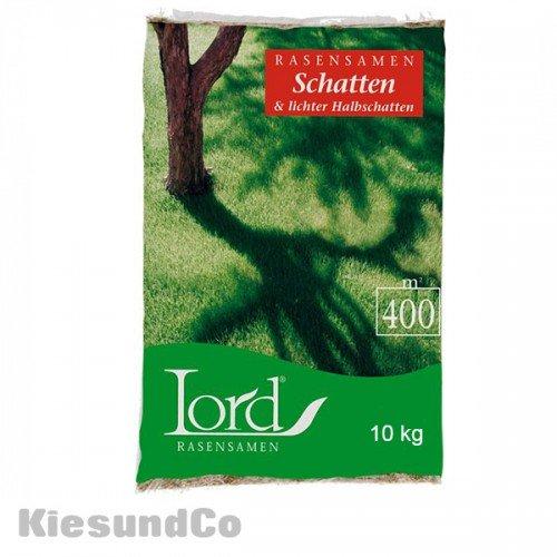10 kg Lord Schattenrasen Rasensaat Halbschatten Grassamen Grassaat