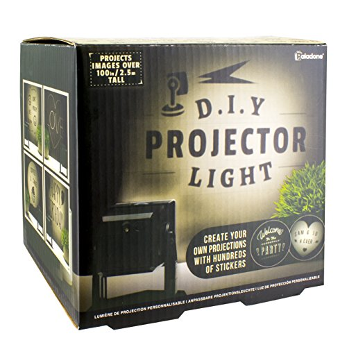 Paladone Do It Yourself Projector Light - Customizable Messages with 4 Sheets of Stickers