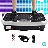 Z ZELUS Vibration Plate 150kg Capacity 2D Fitness Plate 200W Power Vibration Machine Plate Body Fit Bluetooth Music Fitness Massage 99Levels with Resistance Bands