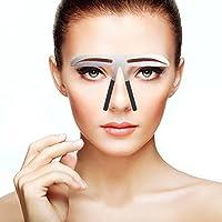 眉毛テンプレート、眉用ステンシル メイクアップ 美容ツール アイブローテンプレート アートメイク用定規 左右対称 位置決め 繰り返し使用 便利 初心者眉の補助器 男女兼用(04)