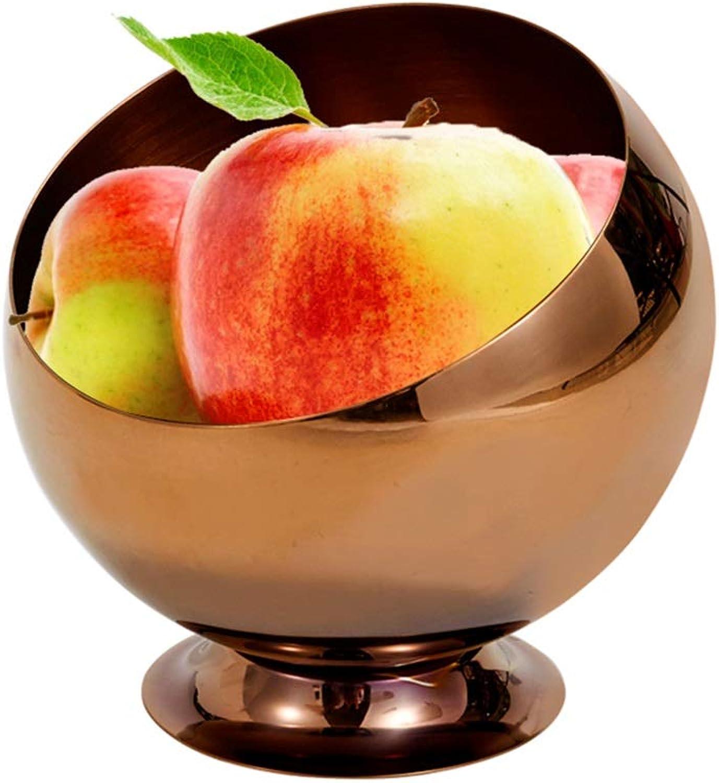 YANFUYING Corbeilles à fruits Corbeilles à fruits créatives En acier inoxydable Panier à fruits incliné Collations et fruits Présentoir multifonctions -36 (Couleur   petit)