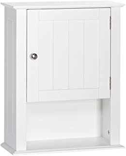 RiverRidge Ashland Collection Single Door Wall Cabinet, White