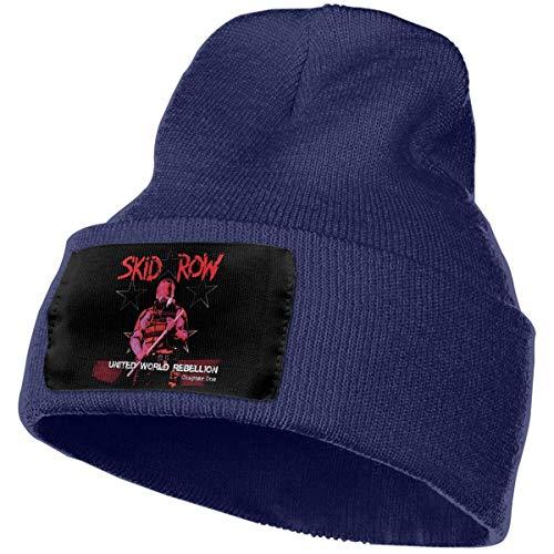 Hdadwy Moda SK-ID R-OW Sombrero de Punto Sombreros de Invierno Sombreros de esquí cálidos Unisex de Punto Negro
