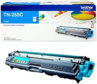 Brother Genuine TN255C High-Yield Printer Toner Cartridge, Cyan, Page Yield Up to 2200 Pages, (TN-255C) Compatible with: M...