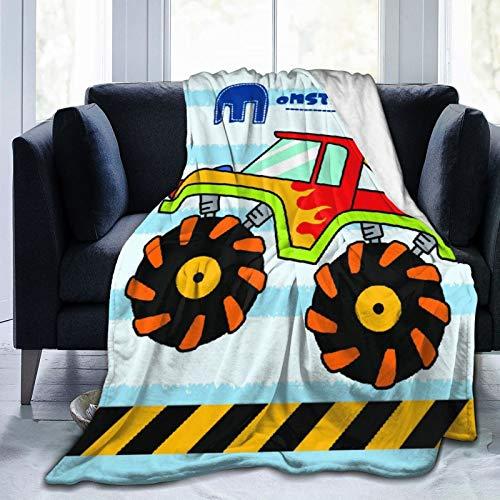 """NOLOVVHA Decke Werfen,Monster Truck für Kinder,Mikrofaser Ganzjahresbett Couch,40"""" x 50"""""""