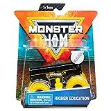 MonsterJam Higher Education (Inverse) Black Bus Yellow Wheels - 1:64 Scale