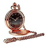 Familie Name Gravur Wappen Rose Gold Taschenuhr Luxus Holz Ständer Halter Display enthalten