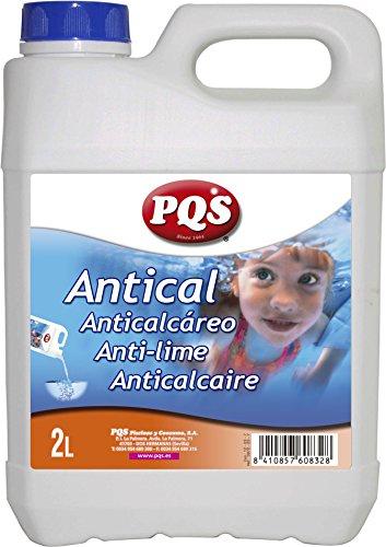 PQS Antical Especial Piscinas. Evita la formación de Incrustaciones en Aguas, Suelos y Paredes de Piscinas. Botella 2 Lt.