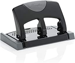 Swingline 3 Hole Punch, Hole Puncher, SmartTouch, 45 Sheet Punch Capacity, Low Force, Black/Gray (74136)