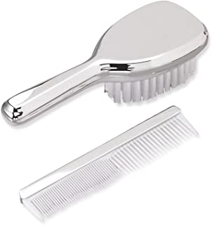 ICE CARATS Nickel Plated Girls Brush Comb Set Baby Fashion Jewelry Gifts for Women for Her